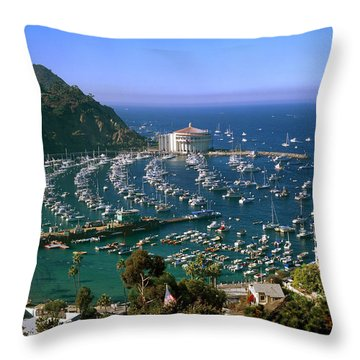 View Of Avalon Harbor Throw Pillow