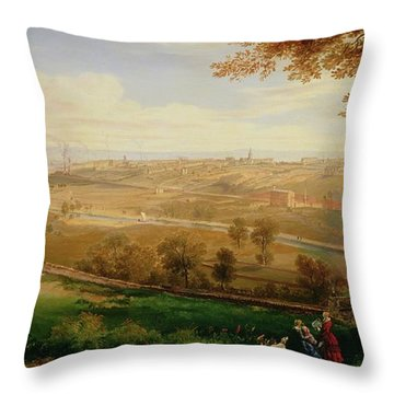 View Of Bradford Throw Pillow by William Cowen
