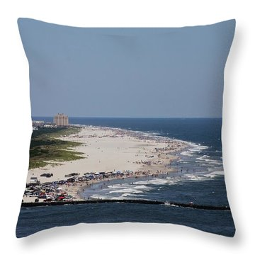 View Of Brigantine Throw Pillow
