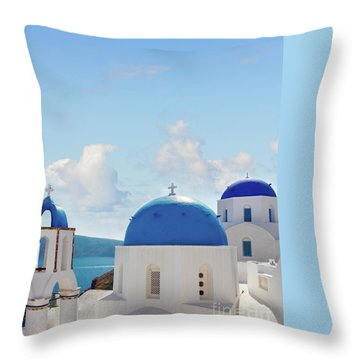 Caldera  Of Santorini Throw Pillow