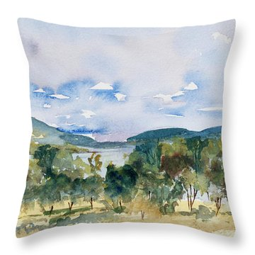 View Of D'entrecasteaux Channel From Birchs Bay, Tasmania Throw Pillow