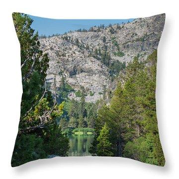 View Of Eagle Lake Throw Pillow