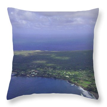 View Of Kaulapapa Throw Pillow