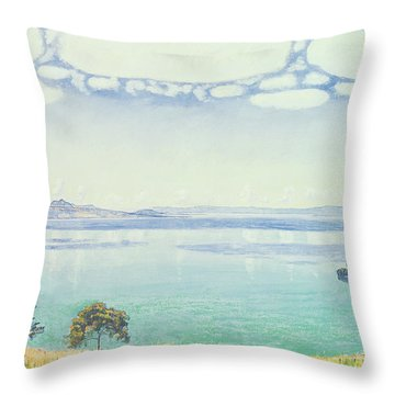 View Of Lake Leman From Chexbres Throw Pillow by Ferdinand Hodler
