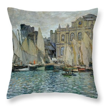 View Of Le Havre Throw Pillow by Claude Monet