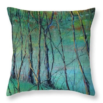 View Of Nature's Canvas Throw Pillow