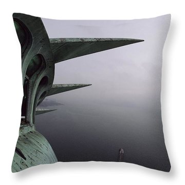 View Of New York Harbor From The Top Throw Pillow