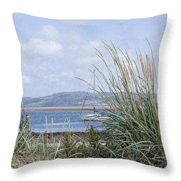 View Of North Wales Throw Pillow by Gillian Dernie