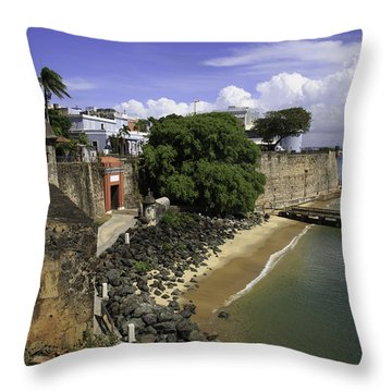 View Of Old San Juan Throw Pillow
