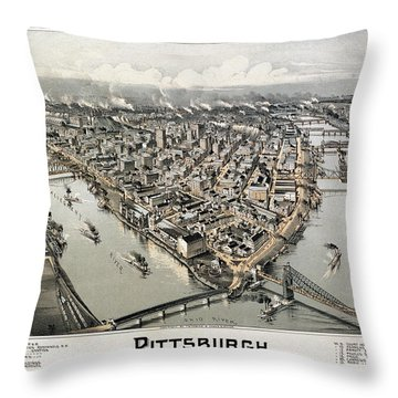 View Of Pittsburgh, 1902 Throw Pillow by Granger