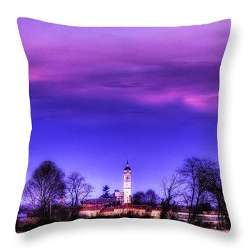 View Of San Giorgio Lomellina Throw Pillow