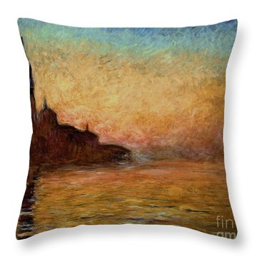 View Of San Giorgio Maggiore Throw Pillow