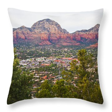 Throw Pillow featuring the photograph View Of Sedona From The Airport Mesa by Chris Dutton