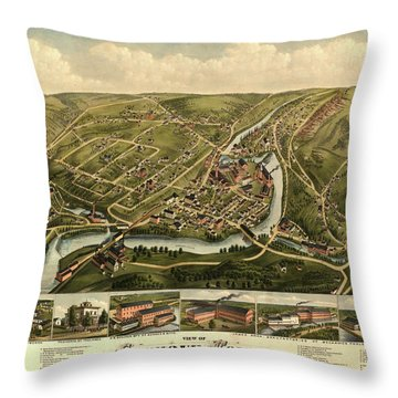 View Of Seymour, Conn. Throw Pillow
