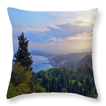 View Of Sicily Throw Pillow by Madeline Ellis