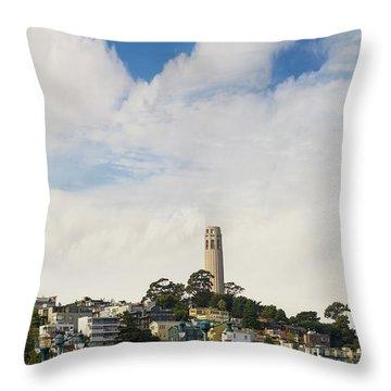 View Of Telegraph Hill Neighborhood San Francisco Throw Pillow