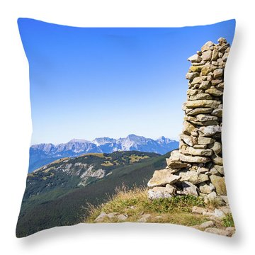 View Of The Apuan Alps Throw Pillow
