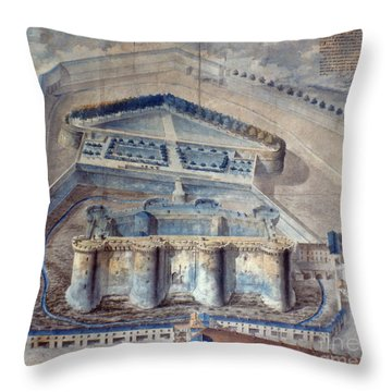 View Of The Bastille Throw Pillow by Granger