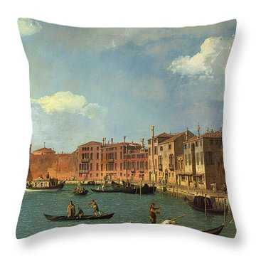 View Of The Canal Of Santa Chiara Throw Pillow by Canaletto