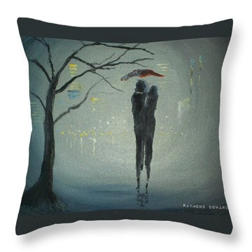View Of The City Throw Pillow by Raymond Doward