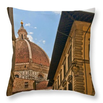 View Of The Duomo Throw Pillow