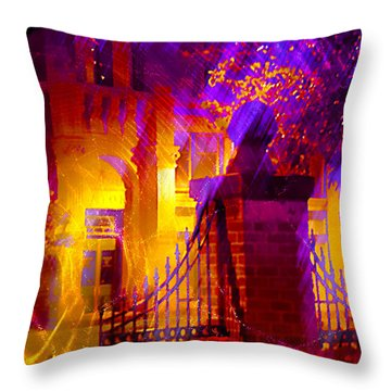 View Of The Eaton - 8-1 Throw Pillow by Kat Besthorn