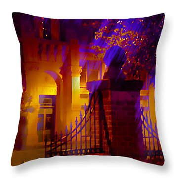 View Of The Eaton - 8 Throw Pillow by Kat Besthorn