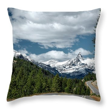 View Of The Pilot Peak From Highway 212 Throw Pillow