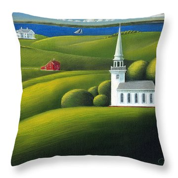 View Of The Sound Throw Pillow