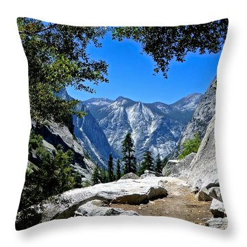 View Of The Sphinx Throw Pillow
