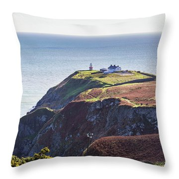 Throw Pillow featuring the photograph View Of The Trails On Howth Cliffs And Howth Head In Ireland by Semmick Photo