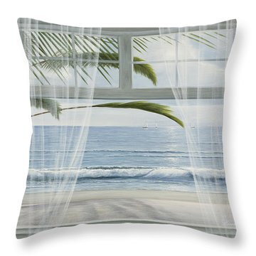 View Of The Tropics Throw Pillow