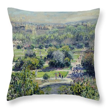 View Of The Tuileries Gardens Throw Pillow