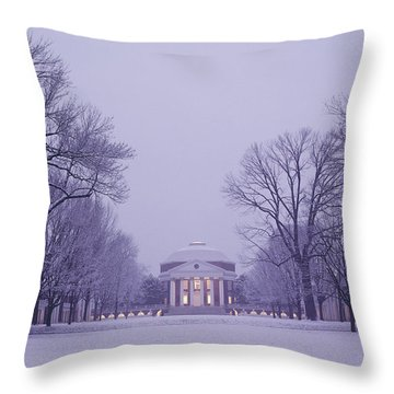 View Of The University Of Virginias Throw Pillow