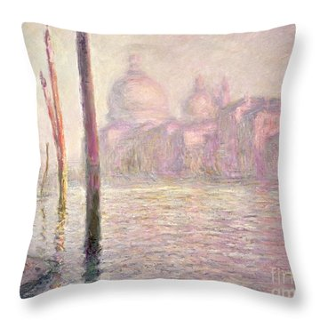 View Of Venice Throw Pillow by Claude Monet