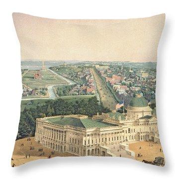 View Of Washington Dc Throw Pillow