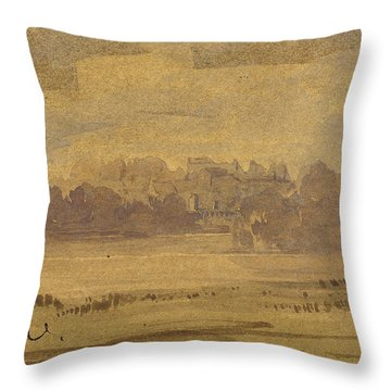 View Of West Point Throw Pillow