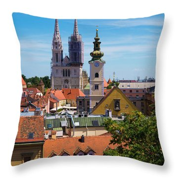 View Of Zagreb Throw Pillow by Rae Tucker