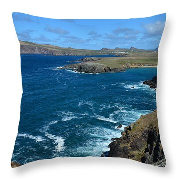 Throw Pillow featuring the photograph View Over Clogher by Barbara Walsh