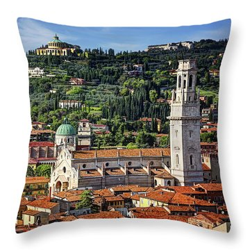Italy Rooftops Throw Pillows