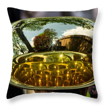 View Through A Sousaphone Throw Pillow