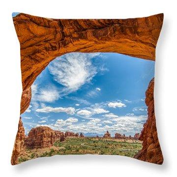 View Through Double Arch Throw Pillow