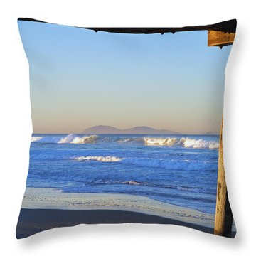 View Through The Pier Throw Pillow