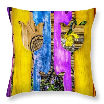 Throw Pillow featuring the photograph View Thru The Fence by Nick Zelinsky