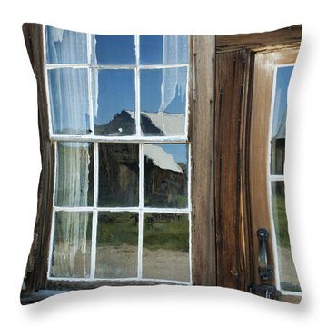 View To A Different Time Throw Pillow by Sandra Bronstein