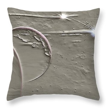 View To A Gray Universe Throw Pillow