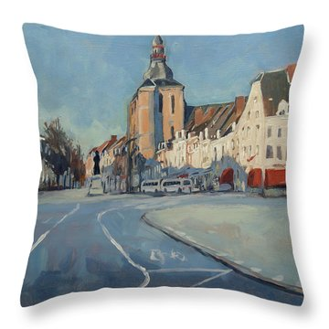 View To Boschstraat Maastricht Throw Pillow