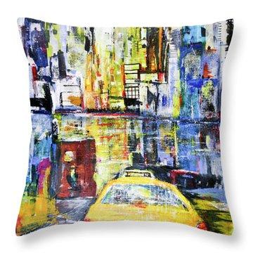 View To Manhattan Throw Pillow