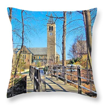 View To Mcgraw Tower Throw Pillow