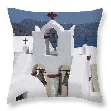 View To The Sea Throw Pillow by Sandra Bronstein
